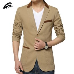 Wholesale Korean Brand Jackets For Men - Wholesale- 2017 Brand Suit Jacket For Men Spring Autumn Coat Korean Male Fashion Slim Style New Arrival High Quality Men's Casual Blazer