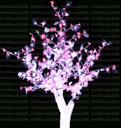 Wholesale Light Blossom Trees Wholesale - 2017 NEW LED Cherry Blossom Tree Light 480LED Bulbs 1.5m Height 110 220VAC Seven Colors for Option Rainproof Outdoor Usage Drop Shipping MYY