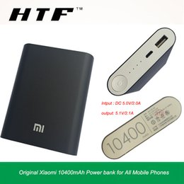 Wholesale External Battery For Blackberry - New 100% Official Original Xiaomi 10400mAh Power bank External battery for iPhone7 iPad Samsung All Mobile Phones
