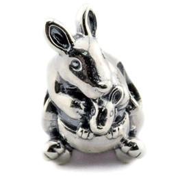 Wholesale Baby Jewelry Bead Glass - Kangaroo & Baby Charm 2016 Summer 100% 925 Sterling Silver Beads Fit Pandora Charms Bracelet Authentic European DIY Bead Fashion Jewelry