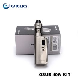 Wholesale Metal Electronic Cigarette Tanks - Authentic SMOK OSUB TC kit with 1350mAh Battery Capacity OSUB 40W Mod and 2ml Atomizer Capacity Helmet Mini tank Electronic Cigarettes