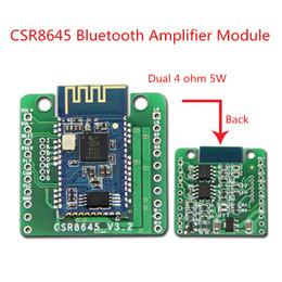 Wholesale Audio Regulator - 5W+5W Bluetooth 4.0 Amplifier Board CSR8645 APTX APT-X Stereo Receiver Module Speaker Audio Amp Lossless w  Call Function