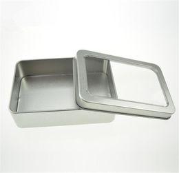 шкатулки для драгоценностей упаковка бархат Скидка Открытые случаи хранения металла окна коробки олова стальной дисплей упаковывая молотилка arenaceous квадратная коробка олова имеют различный размер
