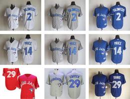 Wholesale Ladies Jerseys Cheap - Mens Lady Kids Toddler Toronto Blue Jays 14 Josh David Price 29 Devon Travis 2 Troy Tulowitzki White Grey Blue Red Cheap Baseball Jerseys