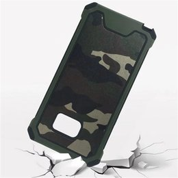 Wholesale Galaxy S4 Case White - For Samsung Galaxy S4 S5 S6 S7 Edge Note7 Case Shockproof Defender Armor Plastic Hybrid Rugged Defender Armor Camouflage Cover for S6Edge+