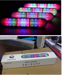 Wholesale Pill Speakers - 2016 New Pulse Pills Led Flash Lighting JHW-V318 Portable Wireless Bluetooth Speaker Bulit-in Mic Handsfree speakers Support FM USB Free DHL