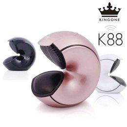 Wholesale Touch Play Tablet - Top new Original Kingone K88 Conch Portable Bluetooth Speaker Super Bass K99 Subwoofer handsf-ree Mic TF card play for mobile phones,tablets
