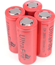 Wholesale Wholesale Rechargeable Volt Batteries - UltraFire Batteries Rechargeable Li-ion Battery 26650 7200mAh 3.7 volt with Long Operative Life & High Capacity For Flashlight