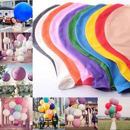 Wholesale Giant Ballons - 36 Inch Colorful Giant Big Ballon Blow Up Latex Birthday Wedding Ballons Birthday Balls Party Decoration OOA3128