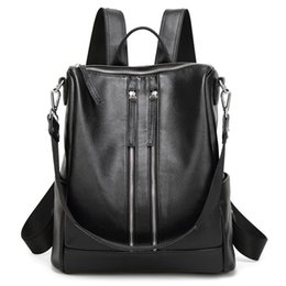 Wholesale Black Floral Canvas Backpack - Excellent ! Lady fashion handbag canvas and oxidant cowhide leather backpack