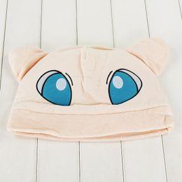 Wholesale Mew Poke - New Arrive Poke Cute Mew Plush Cap Anime Beanie Plush Hat Approx 32cm for boys girls Free Shipping