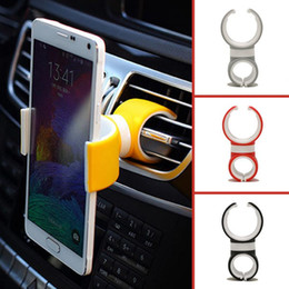 Wholesale Auto Vents - Universal 360 Degrees Air Vent Mount Bicycle Car Auto Cell Phone Holder Stands for iPhone 5 6 Mobile Phone Clip For Samsung HTC