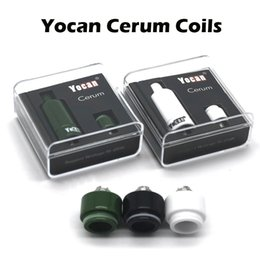 Wholesale E Cigarette Atomizer Replacement - Genuine Yocan Cerum Coils Ceramic Donut Coils Quartz Dual Coils QDC For Yocan Cerum Wax Atomizer E Cigarette Replacement Coils