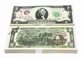 100pcs Usa 2 Learning Dollars Bank Staff Training Banknotes Collect For Home Decor Arts Crafts New