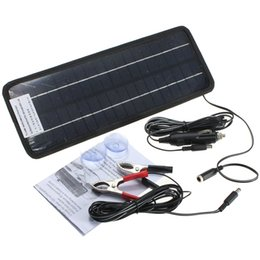Wholesale 12v Solar Panel System - Hot Sale 12v 4.5w Portable Monocrystalline Solar Panel Module System Car Automobile Boat Rechargeable Power Battery Charger