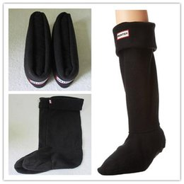 Wholesale Quality Wellington Boots - 2017 WHOLESALE ADULTS BROWN HUNTER BOOT SOCK THERMAL LONG ORIGINAL FLEECE WELLINGTON HUNTER BOOTS SOCKS SALE HIGH QUALITY TALL BOOT SOCK