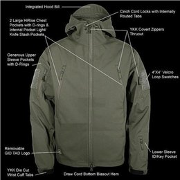 Wholesale Men S Military Jacket Tad - Fall-Hot sale men jackets 2016 high quality Lurker Shark skin Soft Shell TAD Outdoor Military Tactical Mens Jacket 9 colors X-3XL