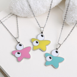 Wholesale Eastern Star Necklace - Hot Sale Gold Silver Plated stainless steel Fashion enamel cute Bear Star charms Jewelry Set Accessories wholesale