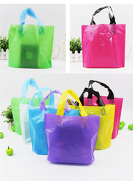 Wholesale Plastic Retail Gift Bags - CUSTOM LOGO Glossy Merchandise Grocery Bags Premium Plastic Retail Shopping Party Gift Bags Packing hand Bags (7)