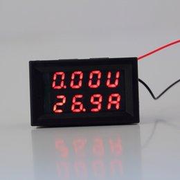 Wholesale Dc Digital Panel Voltmeter Ammeter - Wholesale-Worldwide 1pc DC 0-30V 10A Voltmeter Ammeter Red LED Panel Amp Digital Volt Gauge