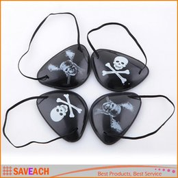 Wholesale Pirate Masquerade Masks - Novelty Pirate Eye Patch Skull Crossbone Eyepatch Eye Mask for Masquerade Halloween Cyclops (Black - Mix Style)