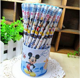 Wholesale Wholesale Boy Erasers - Hot !Student Stationery Cartoon Pencil with eraser shcool office supplies Boys and Girls GIFT 72pcs one set