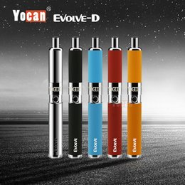Wholesale Fast D - Authentic Yocan Evolve-D Kits Dry Herb Vaporizer Kit E Cigarette Kits Dual Coil Pen Kits 5 Colors Fast DHL Shipping