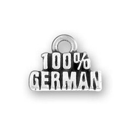 Wholesale German Christmas - 30Pcs Zinc Alloy One Message Hundred Percent German Charm Jewelry