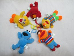 Wholesale Elmo Stuffed Keychain - 2015 new 5.12 inch 5 Colors Sesame Street Elmo Stuffed Plush Dolls Toys Keychain No tag C135