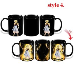 Wholesale Dragon Pottery - Free Shipping Dragon Ball Z Coffee Mug Goku Vegeta Heat Reactive Color Changing Cup Change Ceramic Caneca Cups Novelty Mugs Gift