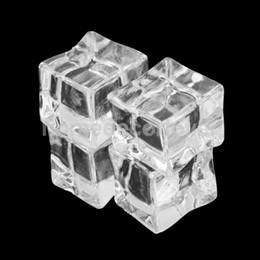 Gros-20pcs faux artificiels cubes de glace en cristal barwar mariage décoration 2.5 cm ? partir de fabricateur