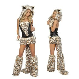 Wholesale Halloween Costume Woman Tiger - Leopard cat ladies DS Costume   Christmas Costume COS Halloween party uniforms with tiger