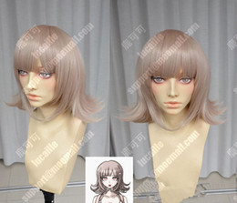 Wholesale Mixed Colour Straight Wig - 100% Brand New High Quality Fashion Picture wigs>>Danganronpa Nanami Chiaki Beige Colour Styled Cosplay Party Wig