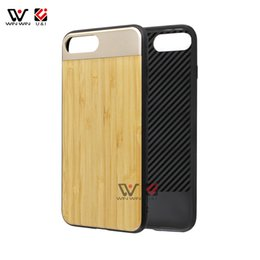 Wholesale I Phone Card Case - Blank bamboo sublimation wood Aluminum case for iPhone 6 6s 7 8 , cell phone accessories cases for i Phone 6 6s plus x