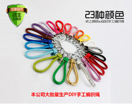 Wholesale Rainbow Flashlight Key Ring - Originality pure handmade rainbow male lady key ring couple key ring leather car key chain small gift