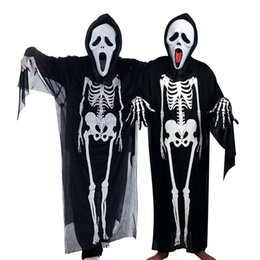2019 dipinti di ringraziamento I vestiti del terrorista dei bambini dell'abito del fantasma del cranio dei costumi di Halloween libera il trasporto