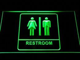 Wholesale Neon Female - i1029 Unisex Men Women Male Female Restroom Toilet Washroom LED Neon Light Sign Cheap signed guitars for sale