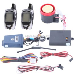 Wholesale Ce Motorcycle Alarm - In stock! Quality SPY LCD motorcycle alarm system 2 way with remote engine start & microwave sensor long remote distance car