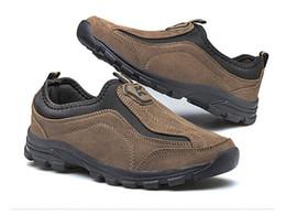 Argentina Oferta especial Mediano (B, M) Zapatos de senderismo Slip-On Leather Outdoor 2017 Trek Suede Sport Hombres Escalada Outventure Sapatos Masculino Suministro