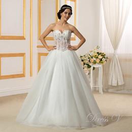 Wholesale Dramatic Train Wedding Dress - Dramatic Bridal Gowns 2017 Sweetheart Sequins Beading Ruffles Button Long Wedding Dress vestido de noiva Custom Made free shipping