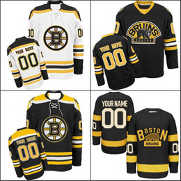 Wholesale Hockey Jerseys Sizes - Customized Boston Bruins Jerseys Custom Any Name Any Number Authentic Ice Hockey Jerseys Stitched Personalized Jersey Size S-3XL