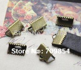 Wholesale Antique Brass End Caps - free shipping!!! 2000pcs lot 13mm Antique bronze End Caps Crimp Beads brass crimp beads for 10mmcord end caps Jewelry Findings