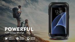 Wholesale Love Mei Powerful - for Samsung galaxy s7 edge original Love Mei Extreme Metal Aluminum Powerful Case For Samsung galaxy S7 Edge + Gorilla Glass