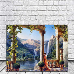 Wholesale Oil Painting Goddess - Ancient Greek Goddess Diy Oil Painting By Numbers Kits Wall Art Painting Home Decor Acrylic Painting On Canvas For Work Of Art 40x50cm