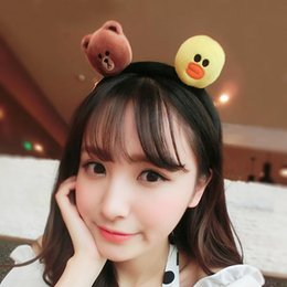 Wholesale Animal Elmo - 15% off! 2016 Korea Sesame Street Elmo Headbands Hair cute cartoon face Funny plush hair band Cookie Monster hair hoop Hair Accessories 8pcs