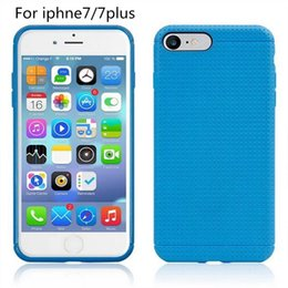 Wholesale Apple Iphone Network - For iphone7 7 plus Soft TPU Slim Case Dot Mesh Network Square Cover for iphone5S iphone6 6plus Samsung S7 S6 S7 edge LG G4 3 2