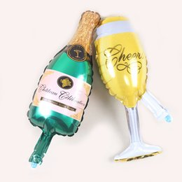 Wholesale Toy Beer Bottles - Large Champagne Pink Cup Beer Bottle Balloons Aluminium Foil Helium Wedding Party Ballons Party Birthday Wedding Christmas Decoration
