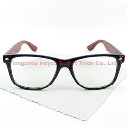 Canada Cadre Classique Bois Vintage Lunettes Cadre Geek Eyewear PC Cadre En Bois Fait Main 4 Couleurs cheap eyewear legs Offre