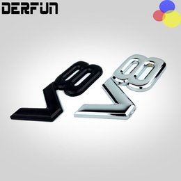 Wholesale V8 Toyota - New Wholesale 3D ABS Metal V8 Emblems badge Car stickers and decals car styling car accessories for Toyota