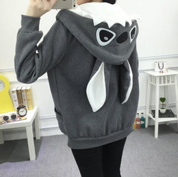 Wholesale Korean School Sweaters - Autumn Winter New Girls School Cartoon Cute Sweater Wild Korean Fleece Jacket Plus Size Woemen Hoodie Jacket